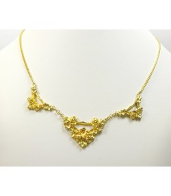 Romantique collier Art Nouveau en or