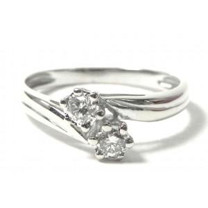 Bague Toi et Moi or gris et diamants