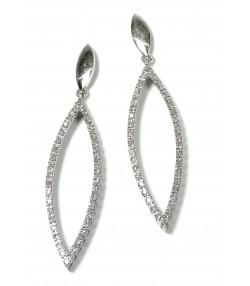 Larmes d'oreilles en diamant et or 750