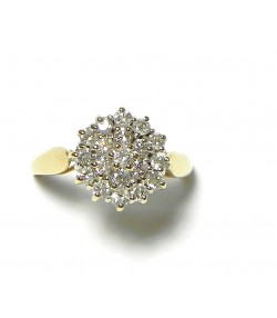 """Bague """"Ronde de diamants"""" et or"""