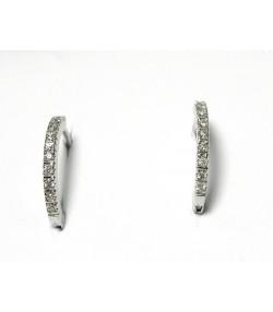 Ravissantes créoles aux 10 diamants sur or gris