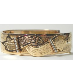 "Bracelet Esprit ""Ceinture"" Napoléon III en or"