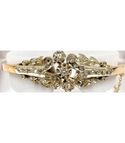 Bracelet provençal or, argent et diamants