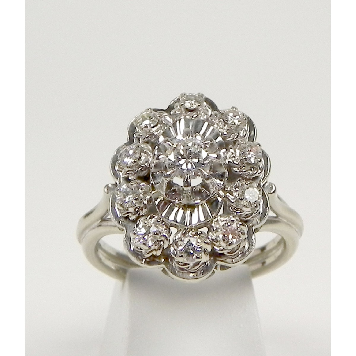 Favori Bague marguerite platine diamants or - Muse & Or EK23
