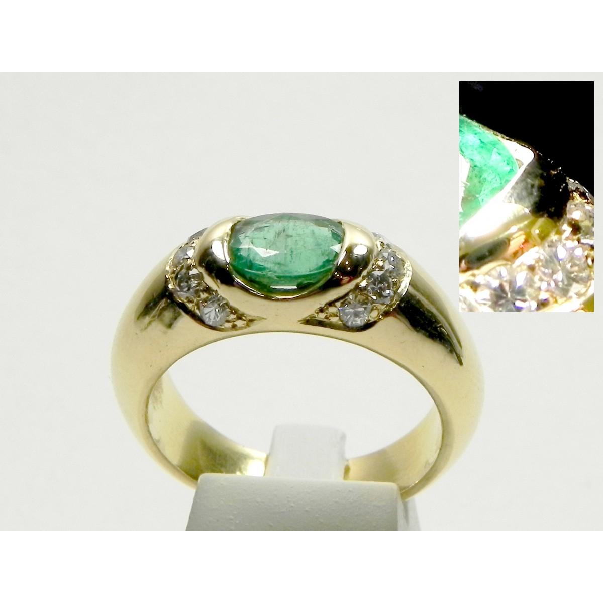 Souvent Bague jonc moderne or jaune, diamants émeraude - Muse & Or UR35