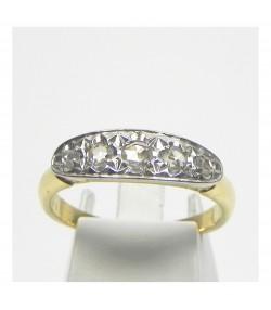 Bague ancienne en or , argent et diamants