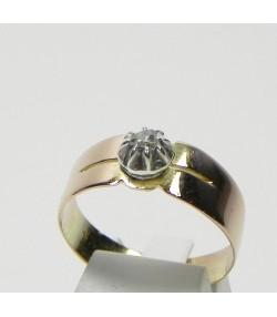 Bague ancienne en or argent et diamant