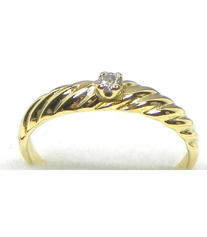 """""""Premier diamant"""" fillette or et diamant"""