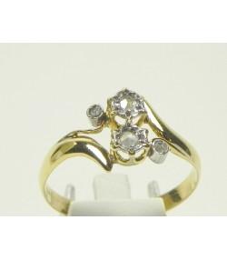 Vous et Moi Bague ancienne or et diamants