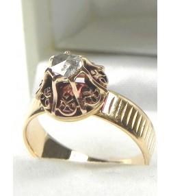 Bague ancienne en or rose et diamant