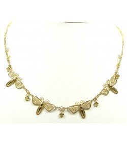 Ancien Collier Aux Papillons or jaune