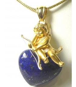 Pendentif or lapis-lazuli