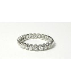 Alliance joaillerie or gris 750 et 24 diamants