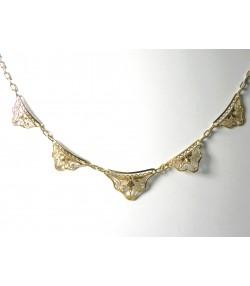 Délicat collier draperie début XXème en or 750