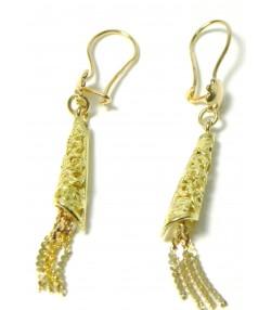 Originaux pendants d'oreilles Cornets or 750