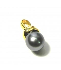 Belle perle de Tahiti en pendentif or