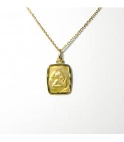 """Angelot"" ensemble Naissance ou Baptême chaîne et pendentif or"