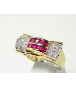 """""""Esprit Années 30"""" bague nœud, diamants et or"""