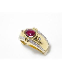 """""""Rubis Passion"""" bague or, diamants et rubis"""