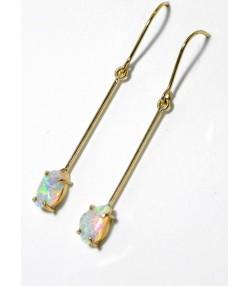 """""""Larmes de Fée"""" , pendants or et opales arlequine"""