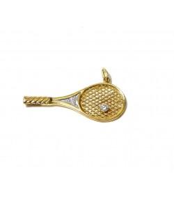 """""""Tournoi Vainqueur"""", pendentif or 750 et diamants"""