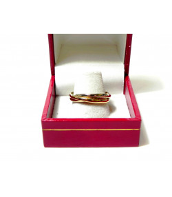 """""""TROISORS"""" Alliance trois anneaux en or 750 jaune blanc et rose PB 4,71 gr"""