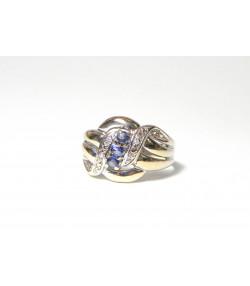 """CHANTABURY"" Merveilleuse bague or 750 saphirs et diamants PB 4,1 g"