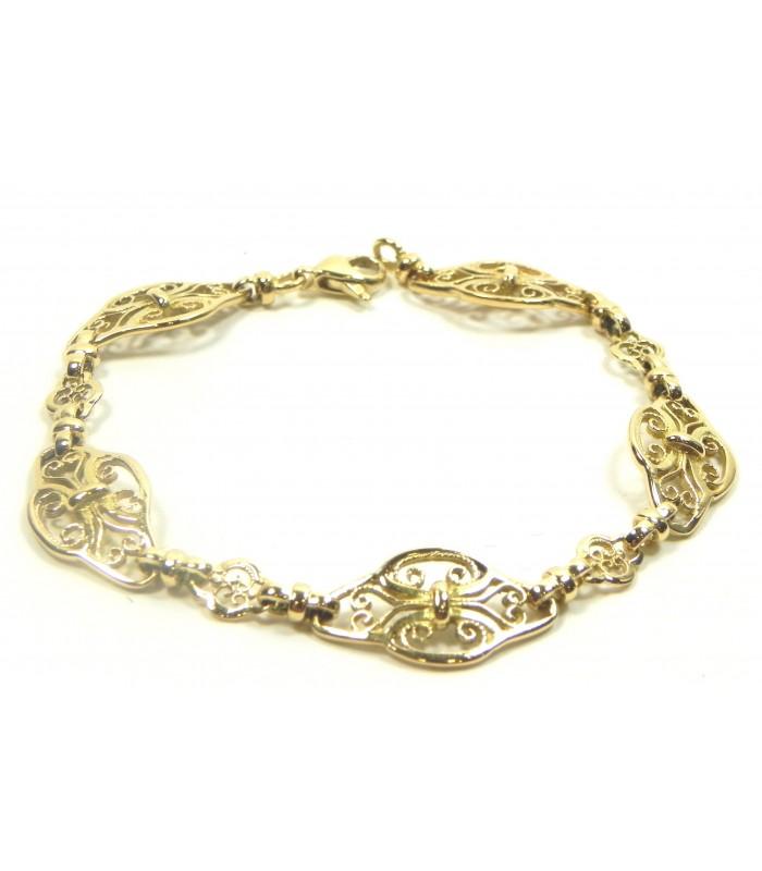 Bracelet style ancien or jaune 750
